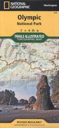 National Geographic Trails Illustrated Map Olympic National Park   Dodax.ch