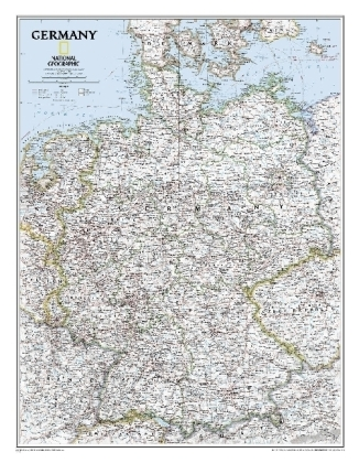 National Geographic Map Classic Germany, Planokarte | Dodax.at