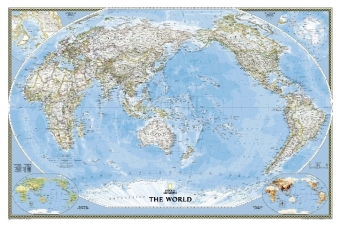 National Geographic Map World Classic, Pacific Centered, laminiert, Planokarte | Dodax.at