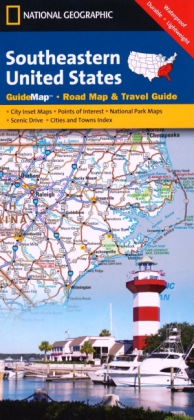 National Geographic GuideMap Southeastern United States | Dodax.at