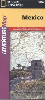 National Geographic Adventure Map Mexico | Dodax.ch