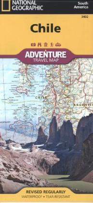 National Geographic Adventure Travel Map Chile | Dodax.ch
