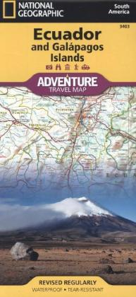 National Geographic Adventure Tarvel Map Ecuador and Galápagos Islands | Dodax.ch