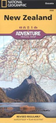 National Geographic Adventure Travel Map New Zealand | Dodax.at
