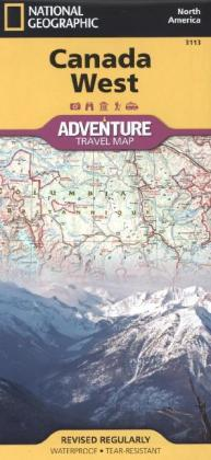 National Geographic Adventure Travel Map Canada West | Dodax.ch