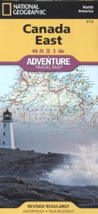 National Geographic Adventure Travel Map Canada East | Dodax.at