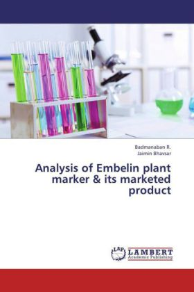 Analysis of Embelin plant marker & its marketed product   Dodax.de