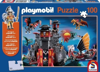 PLAYMOBIL®  Asia-Drachenland Puzzle with a Toy Figure 100 Pieces 56074 | Dodax.co.uk
