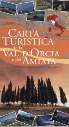 Carta turistica della Val d'Orcia. Tourist map of the Orcia Valley | Dodax.fr