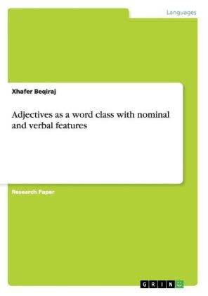 Adjectives as a word class with nominal and verbal features | Dodax.ch