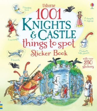 Usborne 1001 Knights & Castle Things to Spot Sticker Book | Dodax.at
