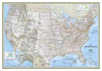National Geographic Map USA Classic, Planokarte | Dodax.ch