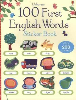 Usborne 100 First English Words Sticker Book | Dodax.at