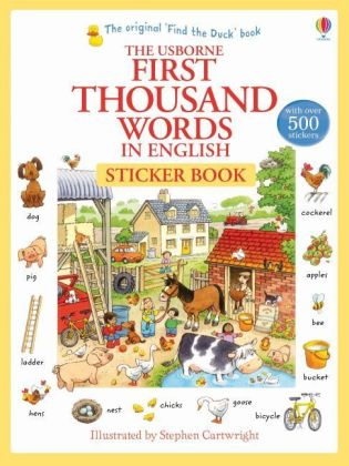 First Thousand Words in English Sticker Book | Dodax.at