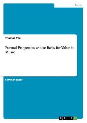 Formal Properties as the Basis for Value in Music | Dodax.ch