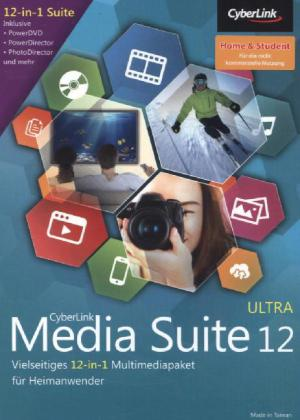 Cyberlink Media Suite 12 Ultra, Home & Student, DVD-ROM | Dodax.ch
