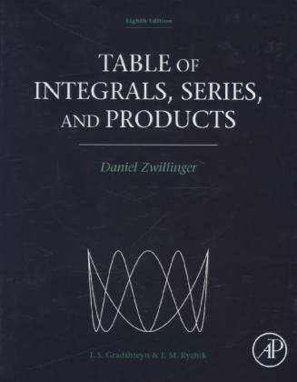 Table of Integrals, Series, and Products | Dodax.at