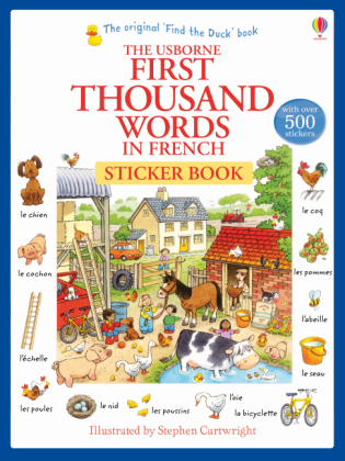 The Usborne First Thousand Words in French Sticker Book | Dodax.ch