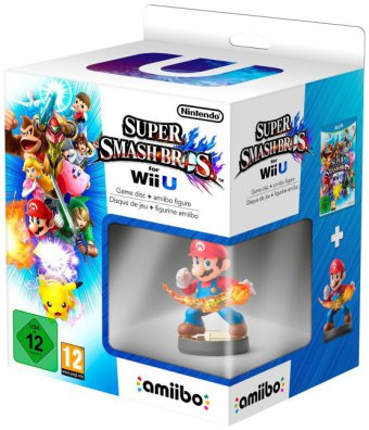 Super Smash Bros. with Mario amiibo Collectible Figure German Edition - Wii U | Dodax.at