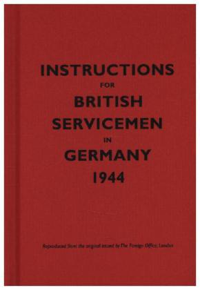 Instructions for British Servicemen in Germany, 1944 | Dodax.ch