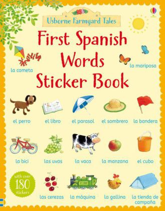 Farmyard Tales First Spanish Words Sticker Book | Dodax.de