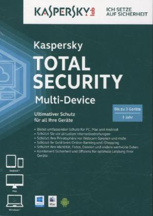 Kaspersky Total Security Multi-Device (FFP), 1 DVD-ROM | Dodax.ch