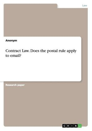 Contract Law. Does the postal rule apply to email? | Dodax.pl