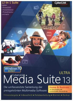 CyberLink Media Suite 13 Ultra Home & Business, 1 DVD-ROM | Dodax.ch