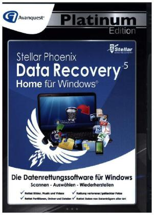 Stellar Phoenix Data Recovery 5 Win - Home - Avanquest Platinum Edition, 1 CD-ROM | Dodax.ch