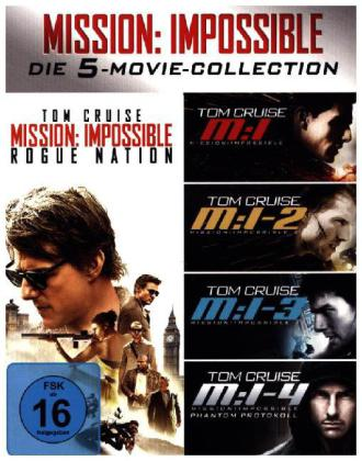 Mission: Impossible - The 5 Movie Collection, 5 Blu-ray | Dodax.it