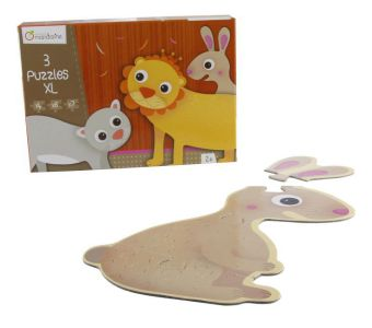 3 Puzzles XL (Kinderpuzzle), Felltiere | Dodax.co.uk