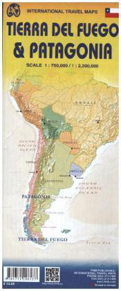 International Travel Map ITM Patagonia & Tierra Del Fuego | Dodax.ch
