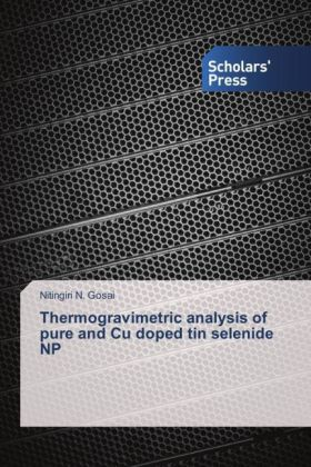 Thermogravimetric analysis of pure and Cu doped tin selenide NP | Dodax.at