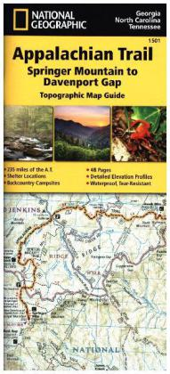 National Geographic Topographic Map Guide Appalachian Trail, Springer Mountains to Davenport Gap | Dodax.at