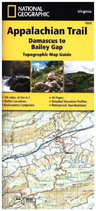 National Geographic Adventure Travel Map Damascus to Bailey Gap | Dodax.at