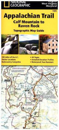 National Geographic Adventure Travel Map Calf Mountain to Raven Rock   Dodax.ch