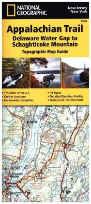 National Geographic Adventure Travel Map Delaware Water Gap to Schaghticoke Mountain | Dodax.at