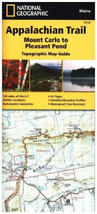 National Geographic Adventure Travel Map Mount Carlo to Pleasant Pond | Dodax.ch