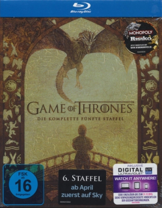 Game of Thrones. Staffel.5, 4 Blu-rays + Digital UV | Dodax.de