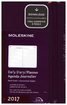 Moleskine Tageskalender P/A6, Hard Cover, Weinrot 2017 | Dodax.at