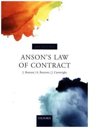 Anson's Law of Contract | Dodax.ch