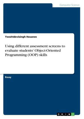 Using different assessment screens to evaluate students' Object-Oriented Programming (OOP) skills | Dodax.ca