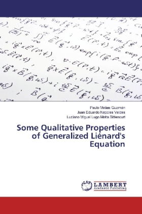 Some Qualitative Properties of Generalized Liénard's Equation | Dodax.at