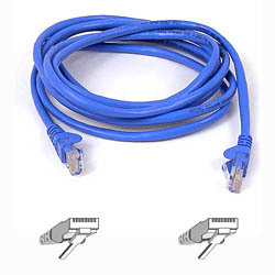 Belkin Cable patch CAT5 RJ45 snagless 1m blue | Dodax.it