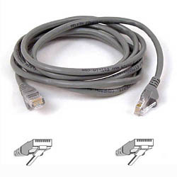 Belkin Cable patch CAT5 RJ45 snagless 2m grey | Dodax.ch