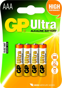 GP Ultra Alkaline Batterie AAA, 1.5V, 4Stk. | Dodax.co.jp