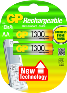 GP Batteries NiMH rechargeable batteries AA | Dodax.ch