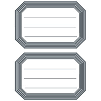 HERMA Book labels 82x55mm grey frame lined 6 sh. | Dodax.at