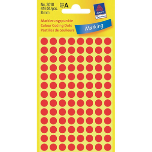 Avery Colour Coding Dots, Red | Dodax.co.jp