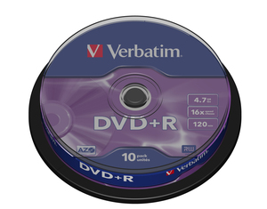 Verbatim DVD+R Medien 4.7GB, 16x,10 Spindel | Dodax.at